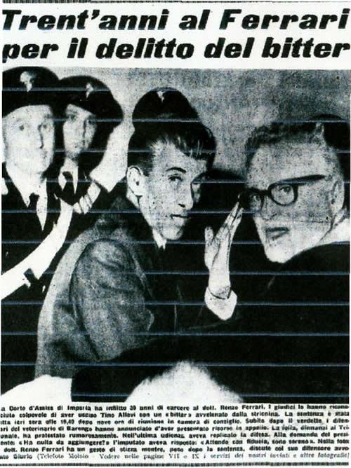 La foto notizia sulla prima pagina de La Sampa sulla condanna del dott. Ferrari