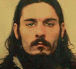 """Il presunto satanista Andrea Volpe, capo delle presunte """"Bestie di Satana"""""""