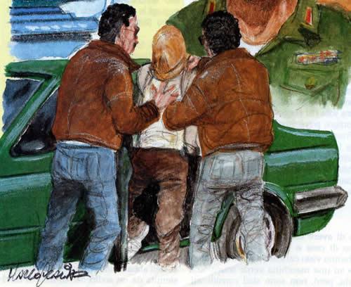 Disegno di Mario Scalia per Avvenimenti