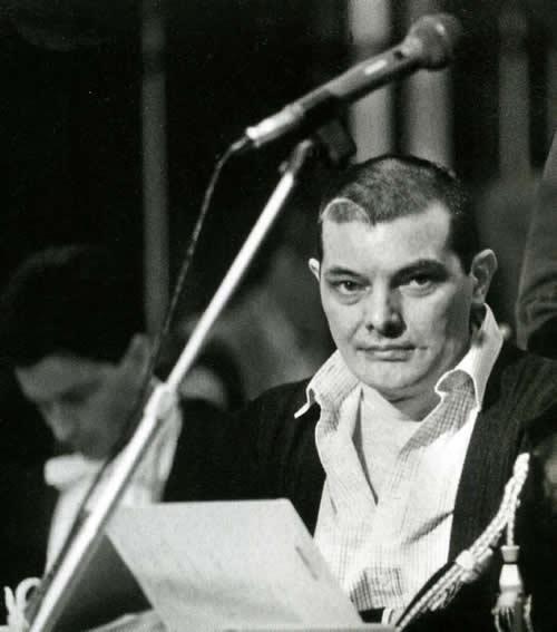 Gianfranco Stevanin al processo di primo grado. Si nota nella parte destra della testa la lunga cicatrice lasciata dall'incidente avuto con la moto (Giacomino foto)