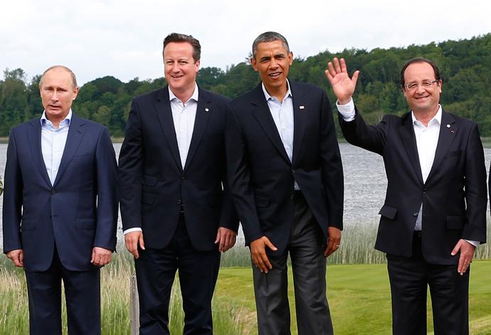 Putin, Cameron, Obama e Hollande